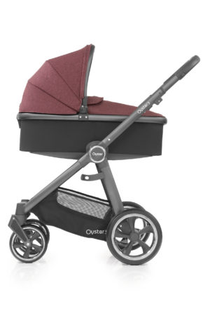 Oyster3_Carrycot_onChassis_CityGrey_Berry