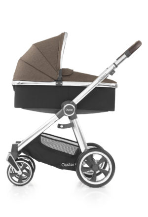 Oyster3_Carrycot_onChassis_Mirror_Truffle